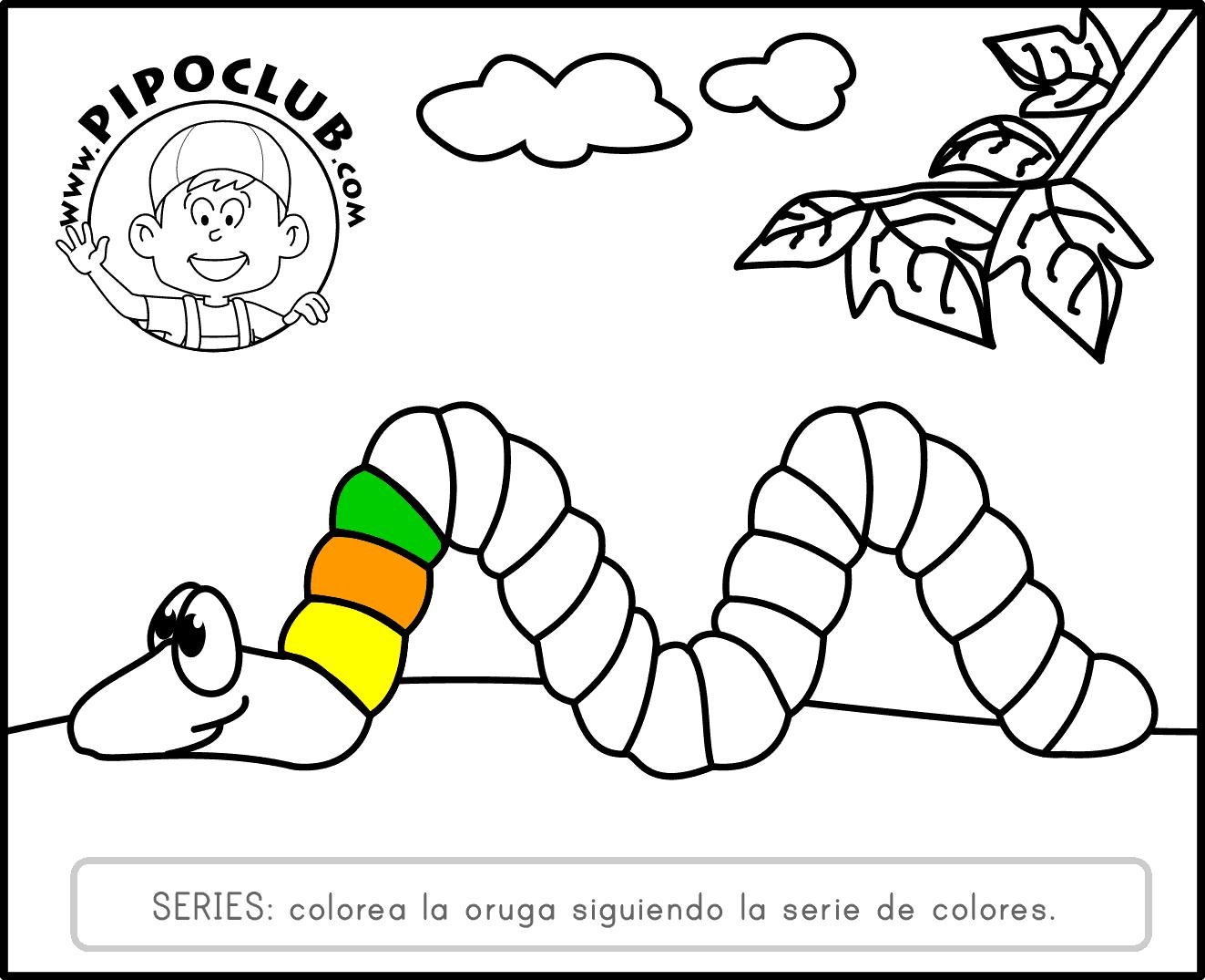 RECURSOS TICS INFANTIL: Colorea Con Pipo
