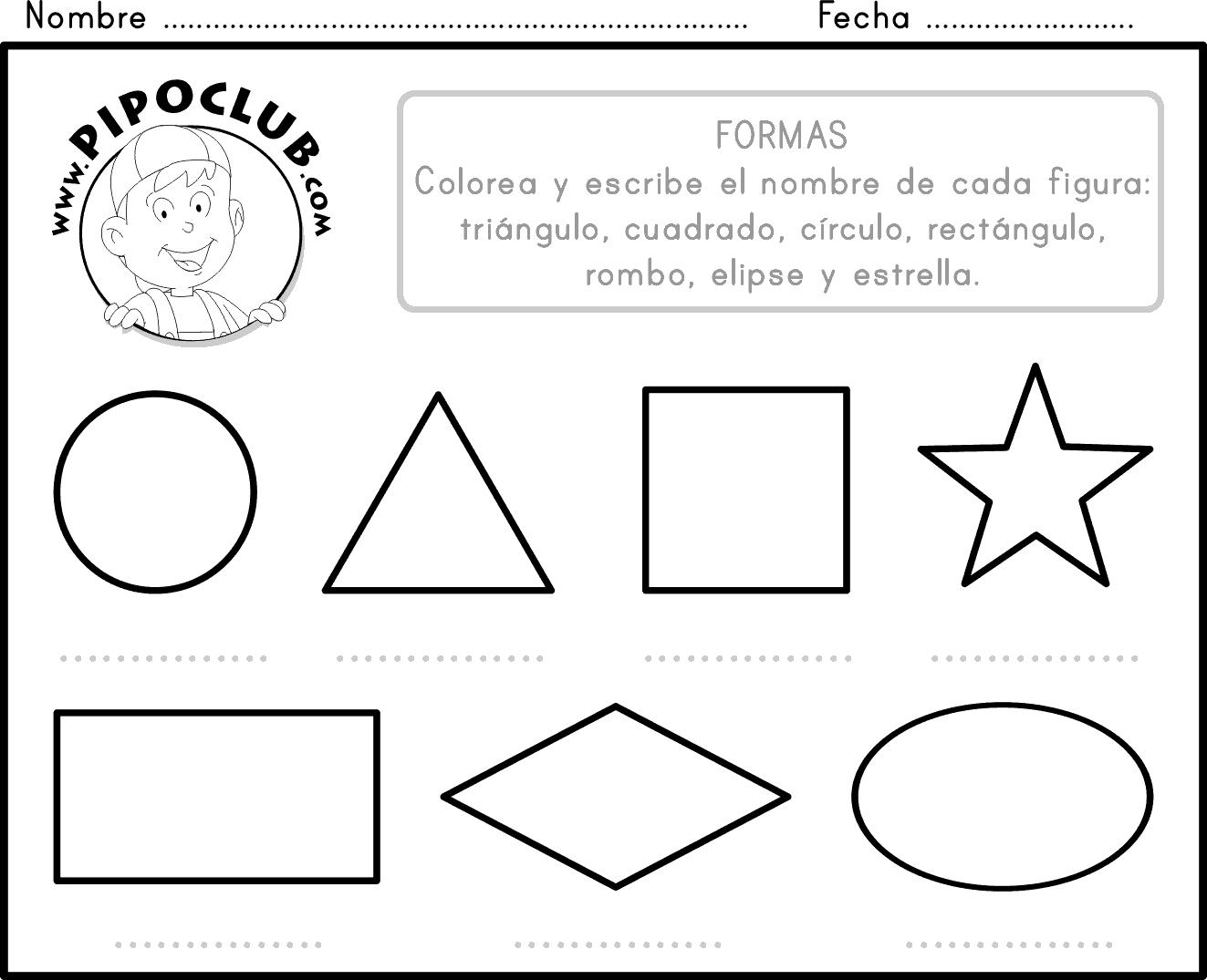 Ejercicios de figuras geometricas para preescolar - Imagui